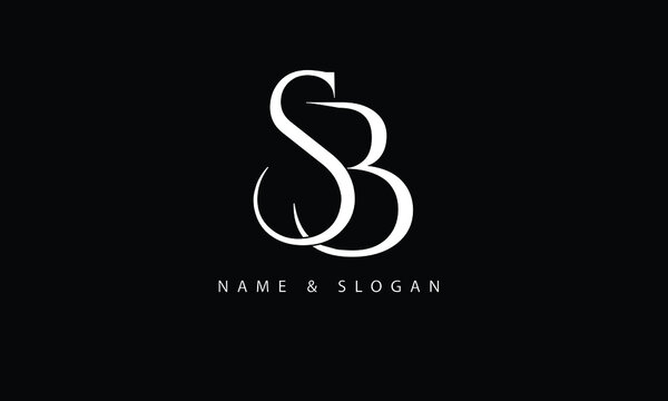 BS, SB, B, S abstract letters logo monogram