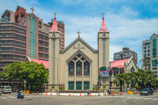 August 24, 2020: Cathedral of the Immaculate Heart of Mary, aka the Sacred Heart Cathedral of Our Lady or North Church, located in hsinchu city, taiwan, opened for religious services in October 1957.