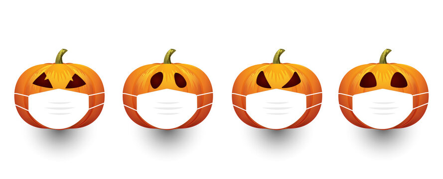 Halloween 2020, Pumpkin with Face Mask