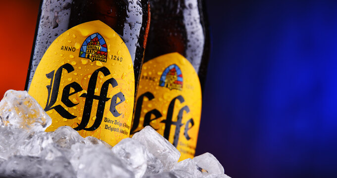 Composition with two bottles of Leffe beer