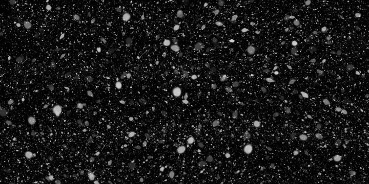 Snow Falling Stock Image In Black Background