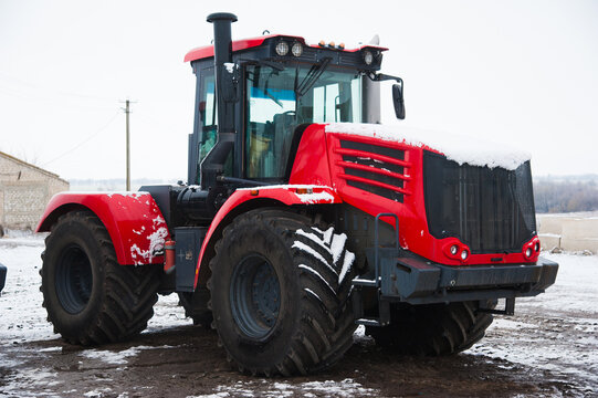 Winter parking of agricultural machinery