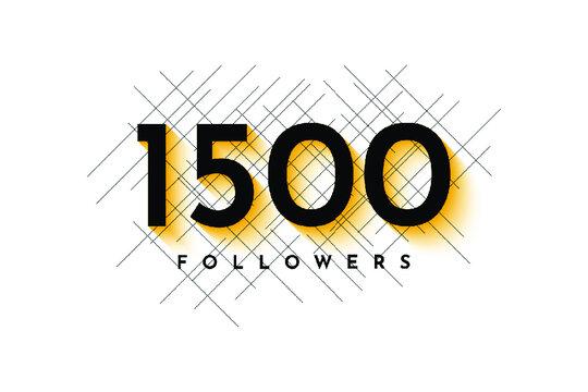1500 followers design illustration