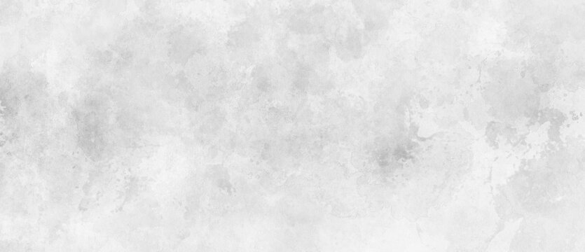 White watercolor background painting with cloudy distressed texture and marbled grunge, soft gray or silver vintage colors