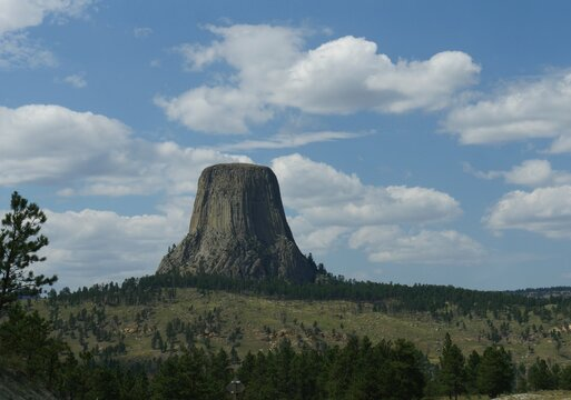 Amazing view of the Devils Tower in Wyoming, America's first national monument.