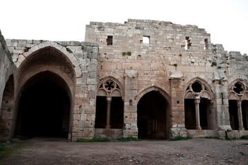 Fototapeta Krak des Chevaliers Crusader castle in Syria obraz