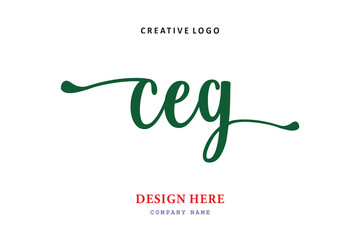 Obraz pharmacy logo composition of the letter CEG is simple, easy to understand, simple and authoritativePrint - fototapety do salonu