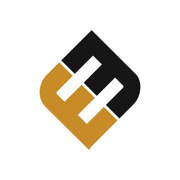 initial letter em or me logo vector design