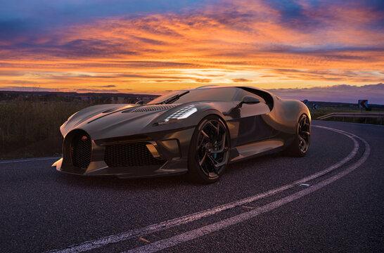Bugatti La Voiture Noire, the most expensive car in the world..