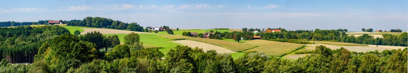 panoramic view of a landscape in the upper austrian region innviertel near schärding