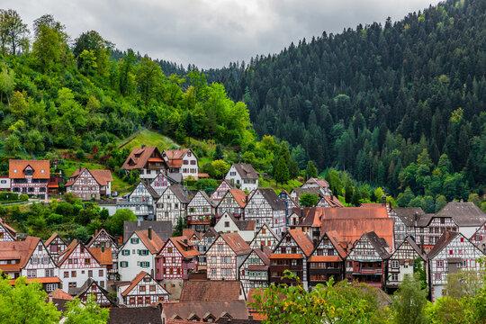 Fachwerkhäuser in Schiltach im Schwarzwald