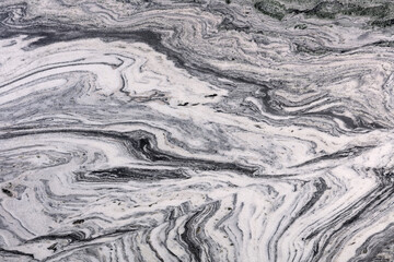 Volcano White, grey - polished granite stone slab, texture for perfect interior, background or other design project.