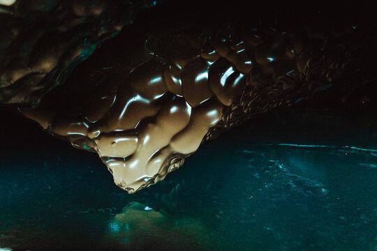Close up of glacier undersea