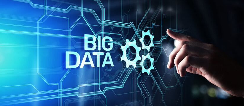 Big data analytics platform, business intelligence and modern technology concept on vitual screen.