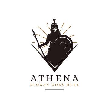 Athena Goddess logo vector illustration