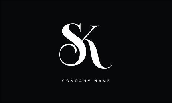 SK, KS, S, K Abstract Letters Logo Monogram
