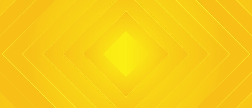 Bright sunny yellow dynamic abstract background. Modern lemon orange color. Fresh business banner for sales, event, holiday, party, halloween, birthday, falling. Fast moving 3d lines with soft shadow