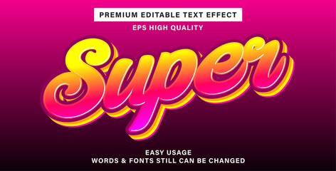 Wall Mural - Best text effect super