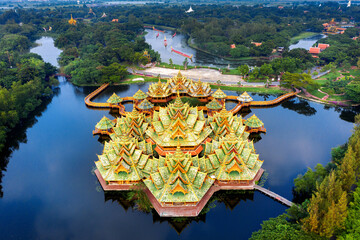 Wall Mural - Pavilion of the Enlightened, Ancient city in samut prakan province, Thailand.
