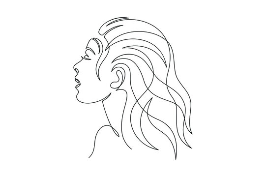 lineart woman