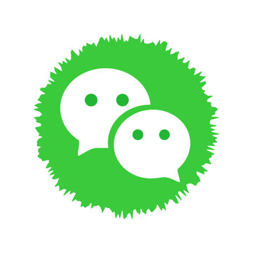 WeChat logo. WeChat is a Chinese multi-purpose messaging, social media and mobile payment app . Kharkiv, Ukraine - October, 2020
