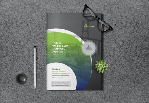 Green and Black Creative Bifold Brochure
