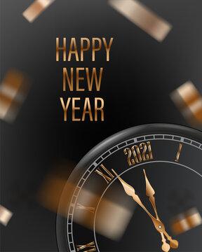 Happy new 2021 yaer Greeting card