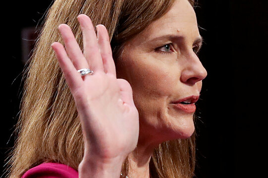 Senate Judiciary Committee holds confirmation hearing for Supreme Court nominee Amy Coney Barrett on Capitol Hill in Washington
