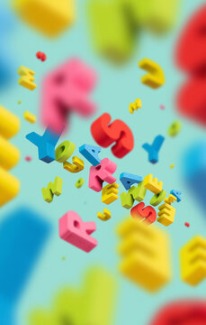 You Are Awesome / Colorful Letters Flying