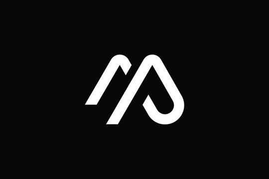 MP letter logo design on luxury background. PM monogram initials letter logo concept. MP icon design. PM elegant and Professional letter icon design on black background. M P PM MP