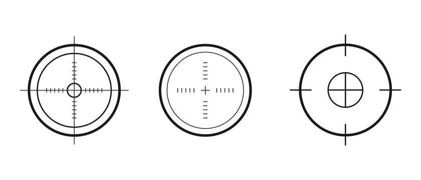 Target aim icons military set. Vector icons