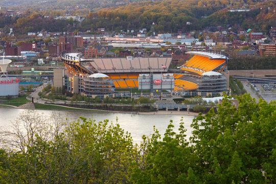 Heinz Field stadium from above.
