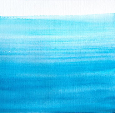 Blue watercolor background, water flow, waves