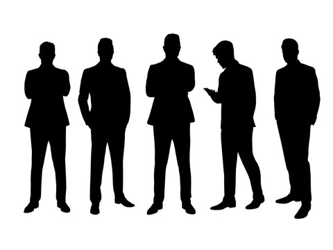 Business men. Group of business people. Isolated vector flat design illustrations