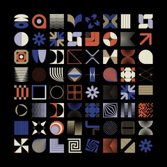 Geometric Shapes and Abstract Modernism Logo Form Elements