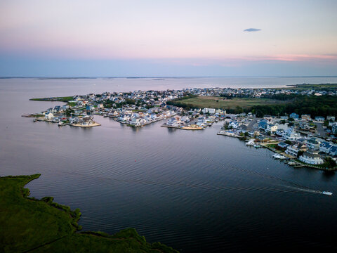 Aerial Sunset in Forked River, NJ