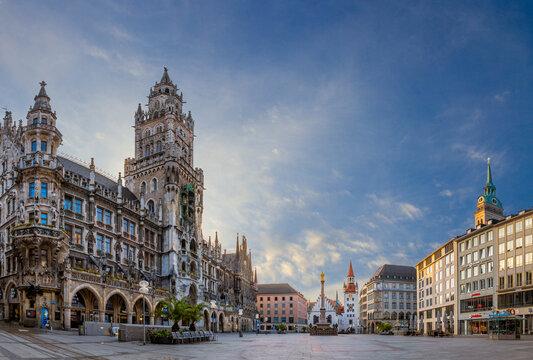 Marienplatz in München, Bayern, Deutschland