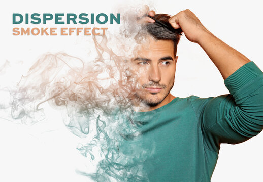 Smoke Dispersion Photo Effect Mockup