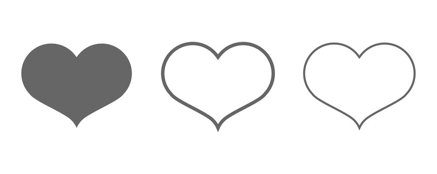 Heart vector icons set