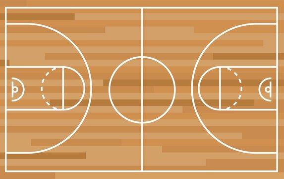 vector illustration of basketball playground