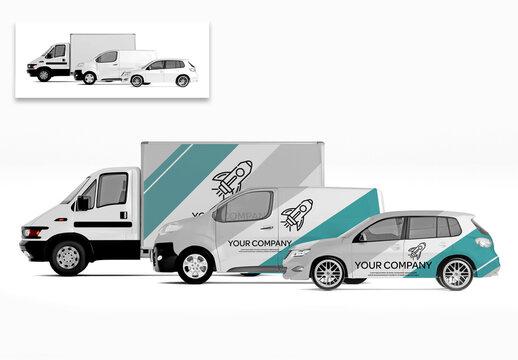 Series of Vehicles Mockup