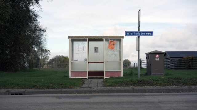 Rural bus stop in The Netherlands