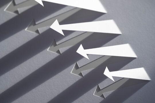 Paper Arrows with Long Diagonal Shadows