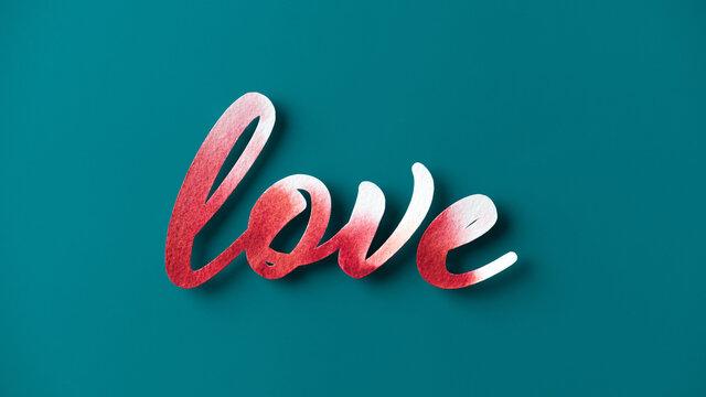 Watercolor Word Love