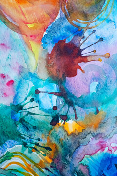 Abstract water colour painting