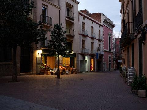 Empty streets in covid-19 lockdown