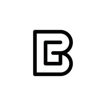 b g bg gb initial logo design vector graphic idea creative