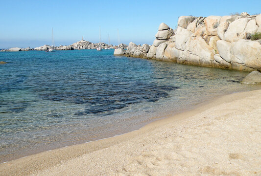 The beach of the Gulf of Santa Giulia in Porto Vecchio is one of the most famous beaches in southern Corsica.