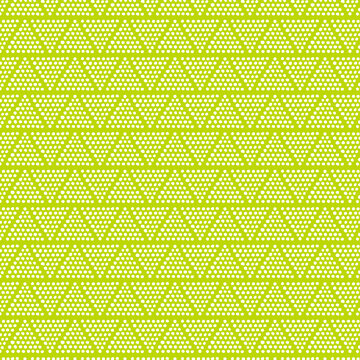Pattern with dots and triangles on lime green background paper.  Modern abstract design wallpaper background.