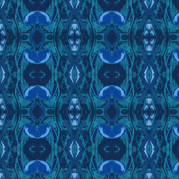 Blue abstract tie-dye effect background surface pattern paper